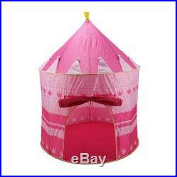 10X(Pink Girls Childrens/Kids Pop-Up Princess Play Tent Castle PlayHouse In 6W4)
