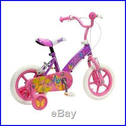 12 Inch Kids Girls Fairy Princess Bike With Stabilisers Pink Outdoor Ride On 3+