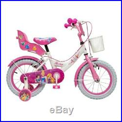 14 Inch Disney Princess Bike Kids Girls Bicycle with Removable Stabilisers Gift