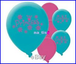14 party PRINCESS BALLOONS flowers party birthday children girls kids decoration