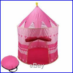 20X(Pink Girls Childrens/Kids Pop-Up Princess Play Tent Castle PlayHouse In 8F5)