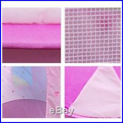 20X(Portable Pink Pop Up Play Tent Kids Girl Princess Castle Outdoor House G4R6)