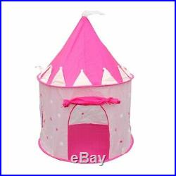 20X(Portable Pink Pop Up Play Tent Kids Girl Princess Castle Outdoor House Z6W2)