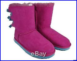 3280Y UGGS Bailey Bow Boots (Princess Pink/Blue) Big Kids Size 6