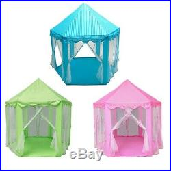 3XPlay Fairy House Indoor And Outdoor Kids Play Tent Hexagon Princess Cast C3Y6