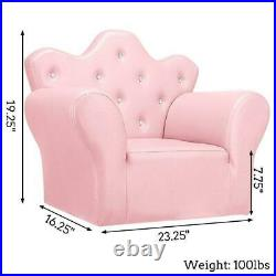 4 Color Children Kids Sofa PVC Leather Princess Sofa with Footstool Home Furniture