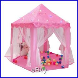 5XPlay Fairy House Indoor And Outdoor Kids Play Tent Hexagon Princess Cast N4J5