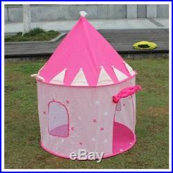 5XPortable Pink Pop Up Play Tent Kids Girl Princess Castle Outdoor House P9U MO