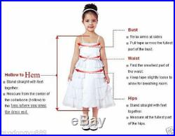 ABAO Childrens Girl Floral Lace Floor-Length Multi-Layer Pageant Ball Gown Dress