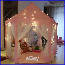AuTop Large Indoor and Outdoor Kids Play House Pink Hexagon Princess Castle
