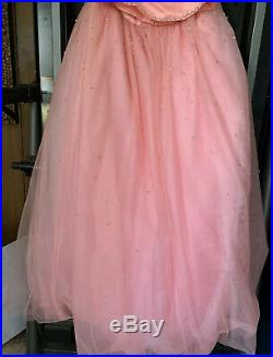 Authentic TIffany Designs 3265 Pink Flamingo Girls Pageant Gown Dress sz 14