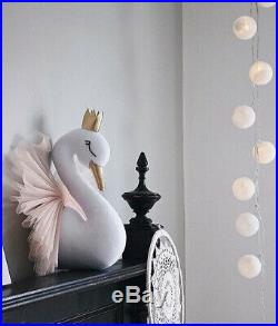 Baby Princess Crown Swan Wall Hanging Kids' Room Home Bedroom Decor Gift UK Pink