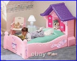Bed Girls Home Principessa Single Bed Pink With Shutters Mattress And Base