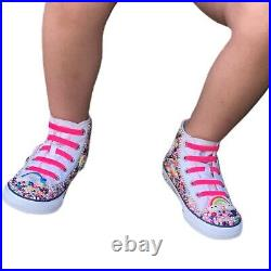 Bedazzled Candy Land Toddler Size 10 High Top Converses Chucks No Tie Little Kid