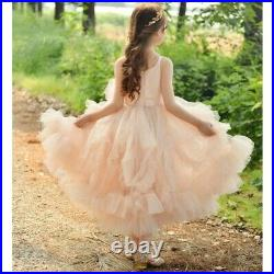 Boutique Girls Light Pink Luxurious Birtyday Party Special Occasion Dress