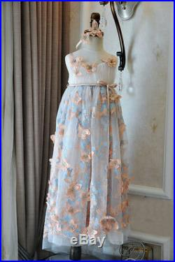 Brand New Girl Kids Butterfly Pink Lace Formal Princess Party Dress Size 2 to 13