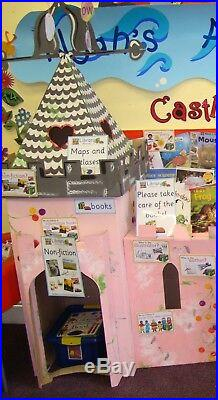 Cardboard Princess Castle (pink & silver) by Kid-Eco