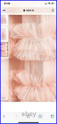Charabia pink ruffle dress Several Sizes Available