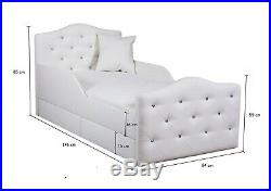 Children Bed PRINCESS 80x160 or 90x200 cm for Girls, Kids with mattress
