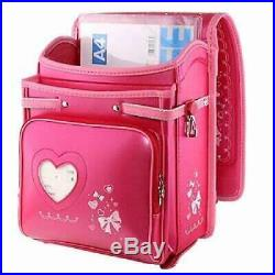 Coulomb Japanese elementary school bag backpack Leather Pink Sonata Princess
