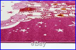 DREAM KIDS PRINCESS CLOUD CASTLE PINK FUN FLOOR RUG 120x170cm NEW