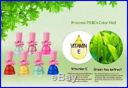 Daycell Princess Pink's Color Nail Polish for Kids Eco premium water manicure