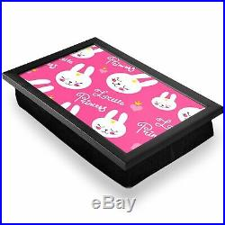 Deluxe Lap Tray Little Princess Pink Rabbits Kids Home Gift #14734