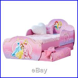 Disney Princess Kids Toddler Bed with Underbed Storage by HelloHome