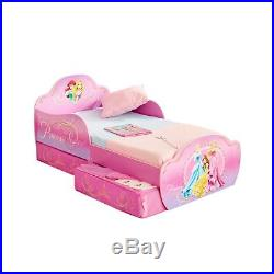 Disney Princess Kids Toddler Bed with Underbed Storage by HelloHome 509