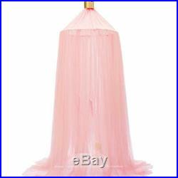 Dix-Rainbow Princess Bed Canopy Yarn Play Net for Kids Baby Bed Children Roun
