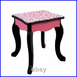 Fantasy Fields Kids Vanity Set Wooden Table With Mirror & Stool Pink TD-11670A