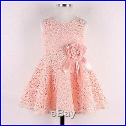 Fashion Girls Kid Full Lace Floral One Piece Dress Child Princess Party Dress YW