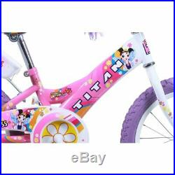 Flower Princess Bicycle 16inch Tricked Out Kids BMX Bike Girls Pink/Purple