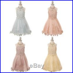 Flower Princess Girls Dresses Bridesmaid Formal Party Prom Wedding Dance Pageant
