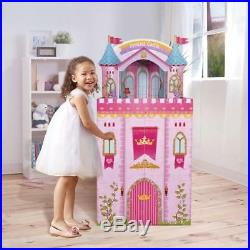 GIANT Princess Castle Doll House Mansion 3 Story Pink Kids Dollhouse Play Set
