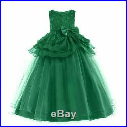 Girl Kid Princess Flower Dress Formal Party Wedding Bridesmaid Gown Long Dresses