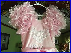 Girl's Formal Princess Pink with Pearl Lace Bust Pageant/Flowergirl Dress