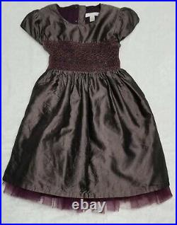 Girl's Marie Chantal Euro-boutique Smocked Silk Tulle Party Dress $440 4y / 4t