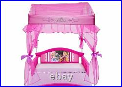 Girls Gift Disney Princess Pink Graphic Decorated Children Toddler Bed with Canopy