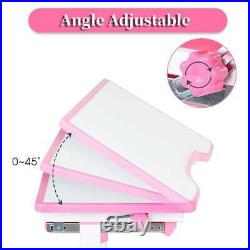 Height Adjustable Pink Princess Children Kids Study Desk Table and Chair Set