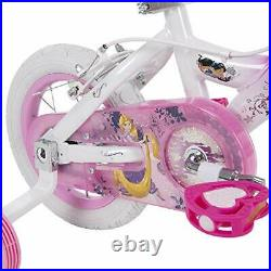 Huffy Disney Princess Kid Bike, Quick Connect Assembly, 12 & 16 inch, Pink