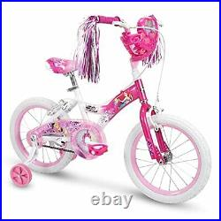 Huffy Disney Princess Kid Bike Quick Connect Assembly 12 & 16 inch Pink with Tr