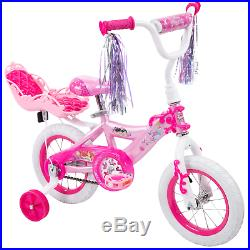 Huffy Disney Princess Kids Bike 12 inch Quick Connect Assembly Pink