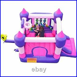 Inflatable Kids Bounce House, Princess Bounce Castle, Little Girls Bouncy Pink
