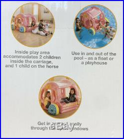 Intex Princess Carraige Inflatable Play House And Float With Horse Pool Toy Kids
