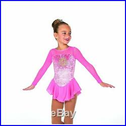 Jerry's Kids 13 Figure Skating Dress Princess Dress in Clear Pink or Sky Blue