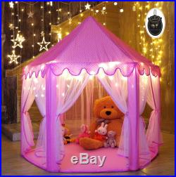 Kid Indoor Princess Castle Play Tent 5553 inches Outdoor Fairy House Child Pink
