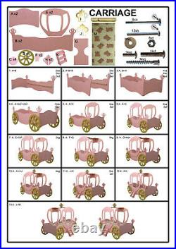 Kid's Bed Princess Bed Carriage New Teen Bed Car Bed Beds Carriage