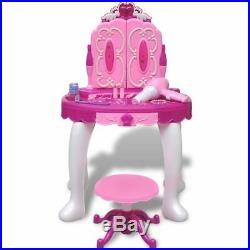 Kid-size Girl Vanity Table with Light/Sound Princess Dream Playroom Standing Toy