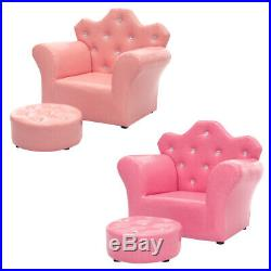 Kids Armrest Tufted Upholstered Princess Sofa Chair for Kids Child Stoarge Couch